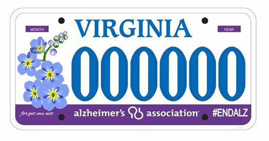 Proposed new license plate raising awareness and funds for Alzheimer's